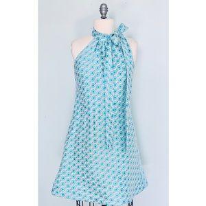 """Tish Cox """"Courtney"""" Blue Geo Dress Small NWT"""